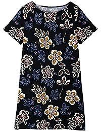 Rainstar Women's New Style Plus Size Slimming Floral H-Line Summer Dress