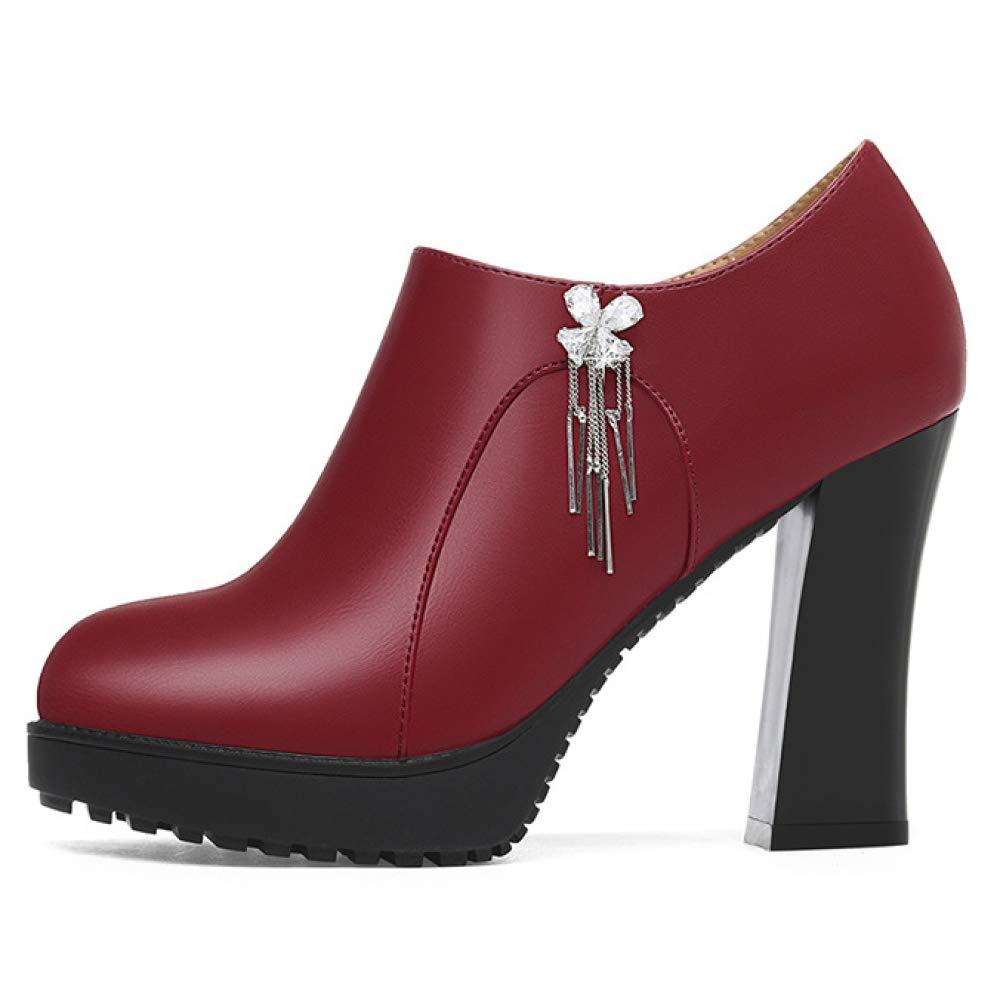 MAKAFJ Herbst Dame Erhöhung Schuhe Plattform Runde Zehe Halbschuhe Für Für Für Für Hochzeit Party Arbeit 3ff716