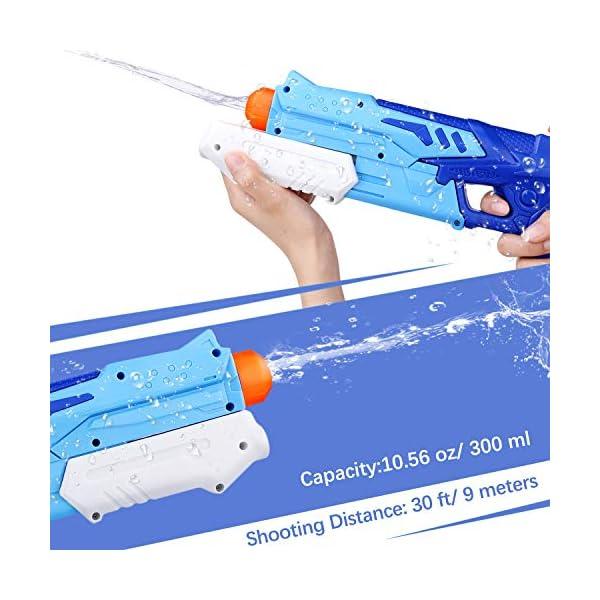 Ucradle 2 Pistole ad Acqua Bambini, Squirt Gun per Bambini e Adulti Estivi All'aperto per Divertimento, 300ML Summer… 3 spesavip