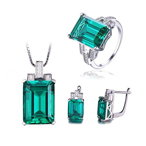 Genuine Created Emerald Solitaire - 5
