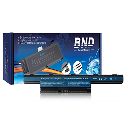 BND Laptop Battery for Gateway AS10D31 AS10D51 AS10D56 AS10D75 AS10D81 AS10D61 - 12 Months Warranty [6-Cell 4400mAh/49Wh]