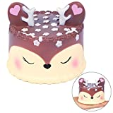 EocuSun Jumbo Squishies Toys Slow Rising Squishy Kawaii Cute Deer Cream Scented Squishys Stress Reliever Toy for Kids Adults Party Decorative Hop Props Large by (Purple)