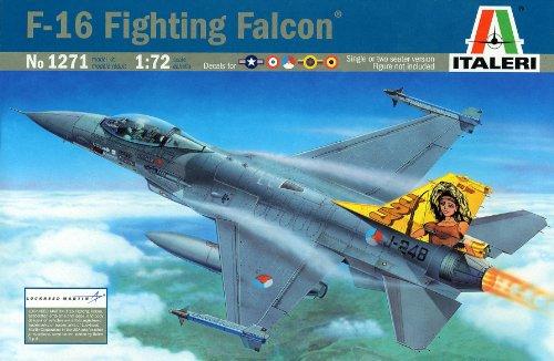 Italeri 1:72 Aircraft No 1271 F-16a/b Fighting Falcon Model Kit (F-16a Falcon Fighting)