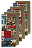 The Big One Lodge Kitchen Wildlife Towels Set of 6 Rustic Theme for Your Hunting Lodge or Log Cabin