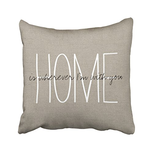 Capsceoll rustic chic home lumbar pillow quote Decorative Throw Pillow Case 16X16Inch,Home Decoration Pillowcase Zippered Pillow Covers Cushion Cover with Words for Book Lover Worm Sofa Couch