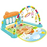 Docooler Baby Play Mat, 2 in 1 Baby Kick and Play Piano Gym Mat Rack Newborn Music Fitness Rack Play Crawling Mat Early Educational Toy for 0~36 Months Babies