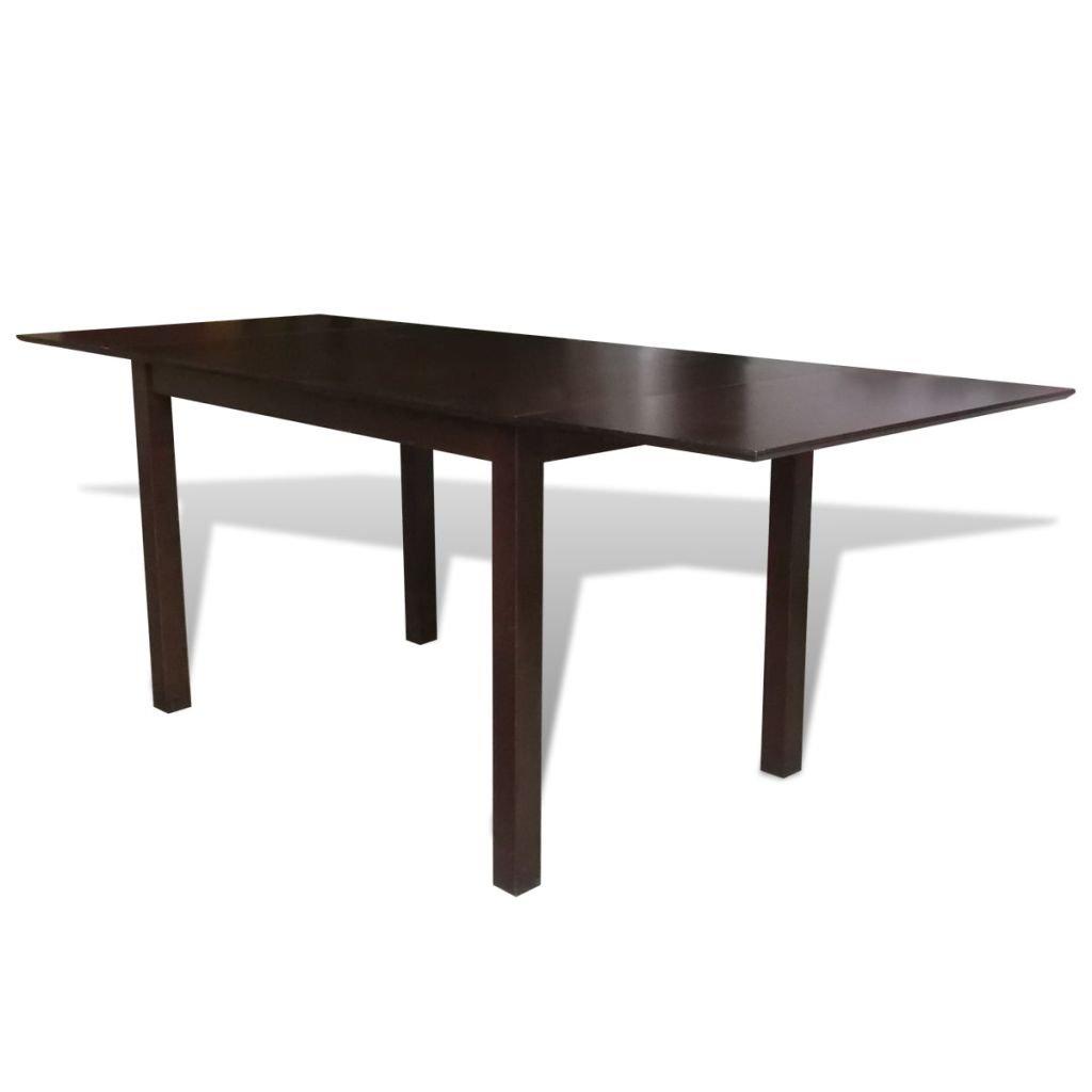 vidaXL Table extensible marron 195 cm en bois massif Table de salle à manger cuisine