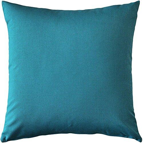 Pillow Decor - Sunbrella Peacock Outdoor Pillow (Blue Sunbrella)