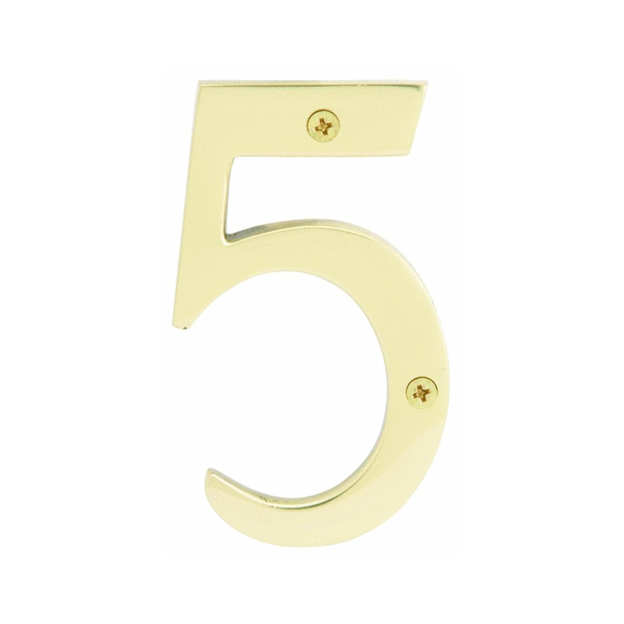 4 Solid Brass 3-D House Numbers
