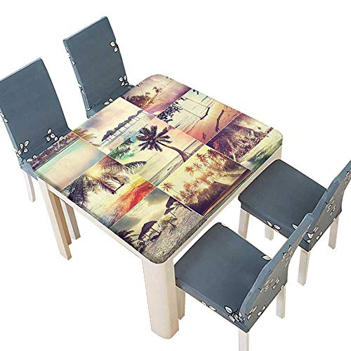 PINAFORE Tablecloth Waterproof Polyester Table Beach Theme Adventure