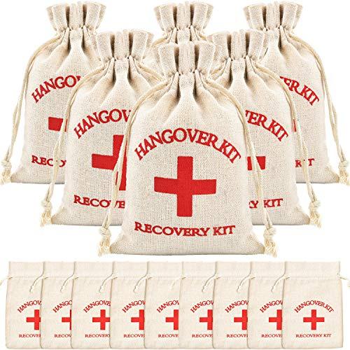 Jovitec 15 Pieces Cotton Muslin Bags Red Cross