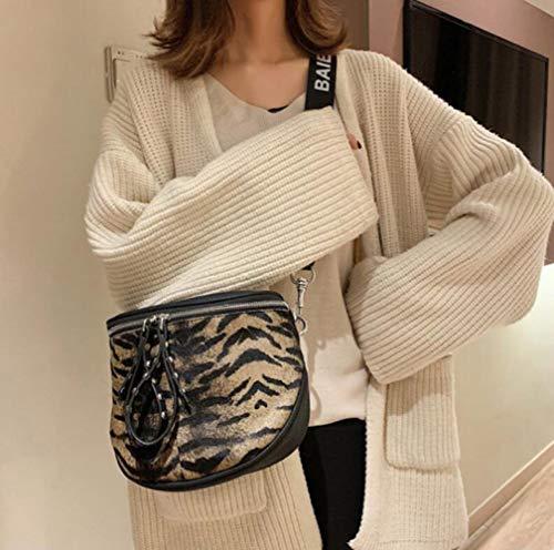 Tigerprint A Tracolla 10cm Fashion Leopard Wygmadlifeqq Mano Borsa Tigerprint Con 25 21 Per Dimensioni Pelle In colore P5x4wq1