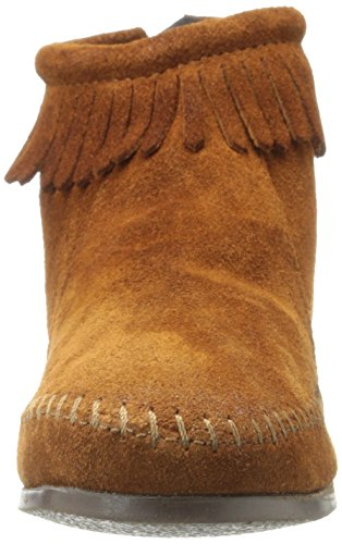 Minnetonka Back Zipper Boot, bottes mixte enfant, Marron, 31 EU