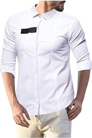 jfhrfged - Camiseta de Manga Larga para Hombre, Color Liso ...