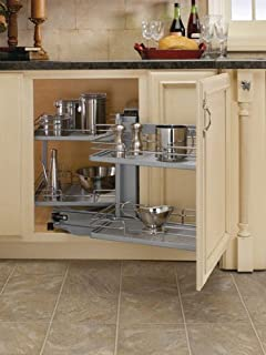 Rev-A-Shelf Blind Corner Pivot Out Organizer Chrome
