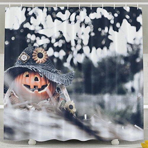Wons Halloween Pumpkin Cool Bathroom Curtains 6072inch
