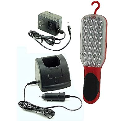 GreatLite 33006 4.8V 36 LED Rechargeable Shop Light, Red and Black