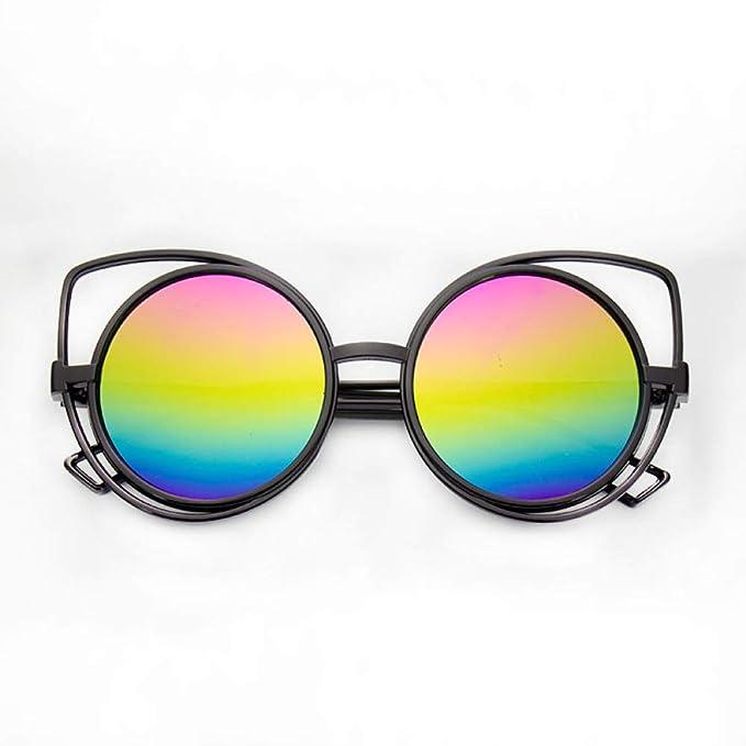 Moda gafas de sol huecas mujer moda gato ojos tendencia ...