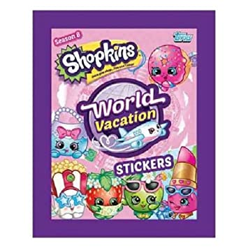 10x Topps Shopkins World Vacation Sticker Pack 10 Sealed Packs