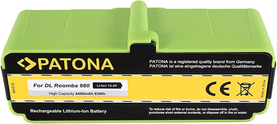 PATONA Power Bateria Compatible con iRobot Roomba 866, 886, 896, 900, 966, 980 14.4V / 4400mAh: Amazon.es: Hogar