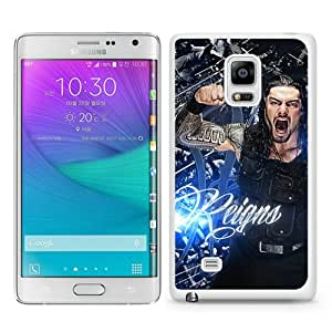 Samsung Galaxy Note Edge Case ,Hot Sale And Popular Designed Samsung Galaxy Note Edge Case With Wwe Superstars Collection Wwe 2k15 Roman Reigns 04 White Hight Quality Cover