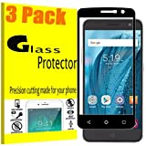 [3 Pack] VUV For ZTE Blade Z Max / Z982 / Zmax Pro 2 / ZTE Sequoia Blade [Tempered Glass] Screen Protector, 9 Hardness HD [Full Cover] Tempered Glass with Lifetime Replacement Warranty
