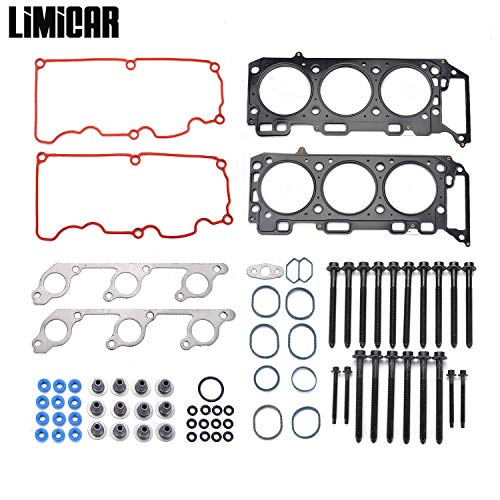 LIMICAR MLS Cylinder Head Gasket Set with Head Bolts Compatible with 2000-2003 Ford Explorer 2001-2003 Ford Ranger Mazda B4000 2002-2003 Mercury Mountaineer 4.0L