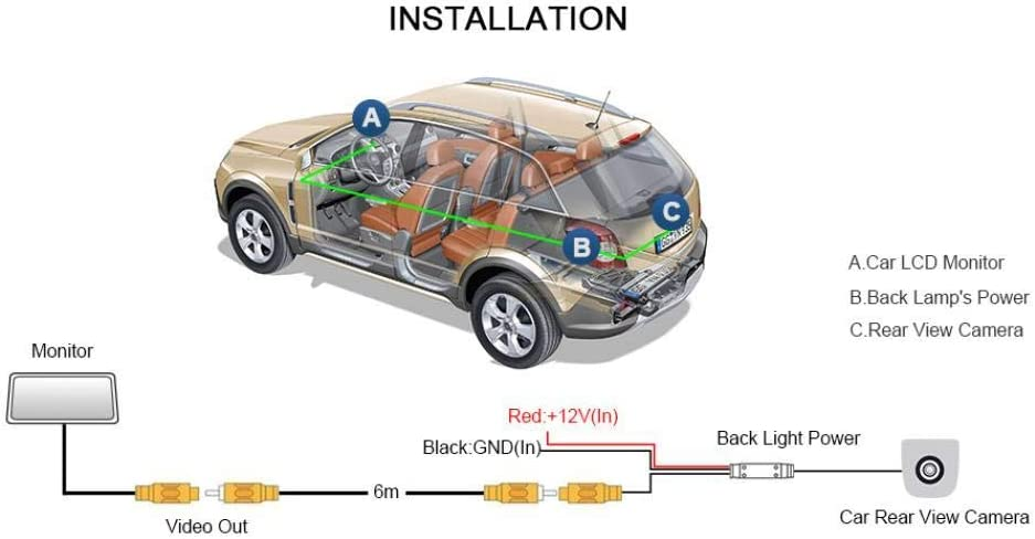 QWERQF Cam/éra de recul HD de Voiture cam/éra de recul Vision Nocturne cam/éra de Voiture d/édi/ée de Haute qualit/é,pour Opel Astra J 2009~2015