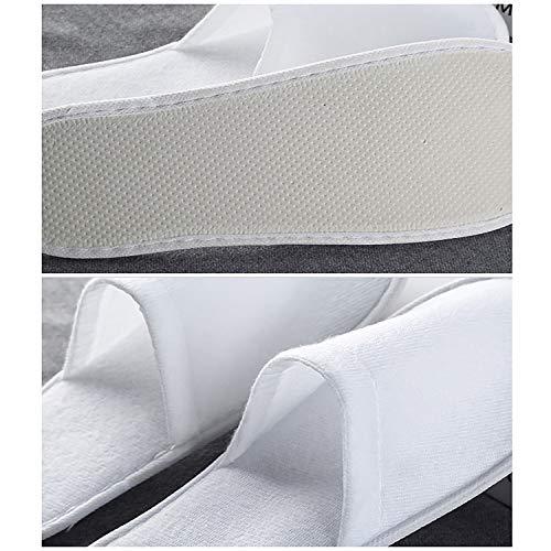 Portatile Monouso Pantofole Aperte Spa Pantofole 28x11cm Viaggio white Paia 50 Festa 11x4 3inch Piscine Ntbst nUW10wqxU