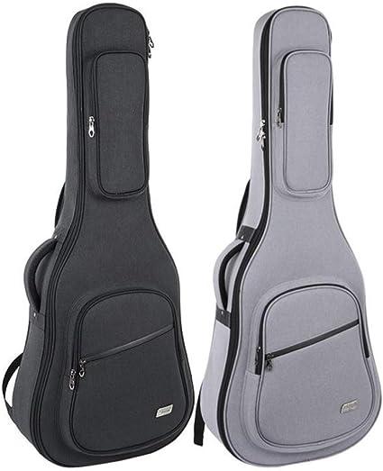 Bolsa de guitarra para 41 pulgadas, funda de guitarra acústica y clásica, 10MM extra gruesa, esponja acolchada, ventana de nombre. Estuche de guitarra impermeable, funda de mochila de guitarra suave,: Amazon.es: Instrumentos