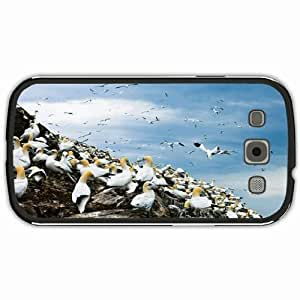 New Style Customized Back Cover Case For Samsung Galaxy S3 Hardshell Case, Black Back Cover Design Bird Personalized Unique Case For Samsung S3