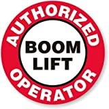 """Boom Lift Operator Full Color Printed Sticker Decal (Size: 2"""" circle) Hard Hat - Helmet - Phone - Laptop - Notebook..."""
