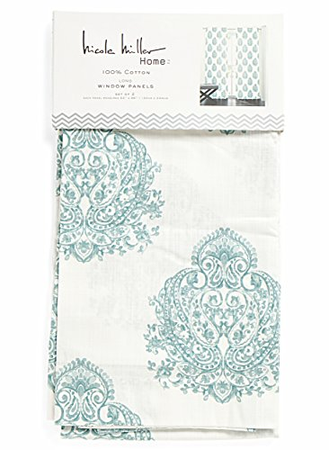 Nicole Miller Marchesa Paisley Medallion Pair Of Curtains