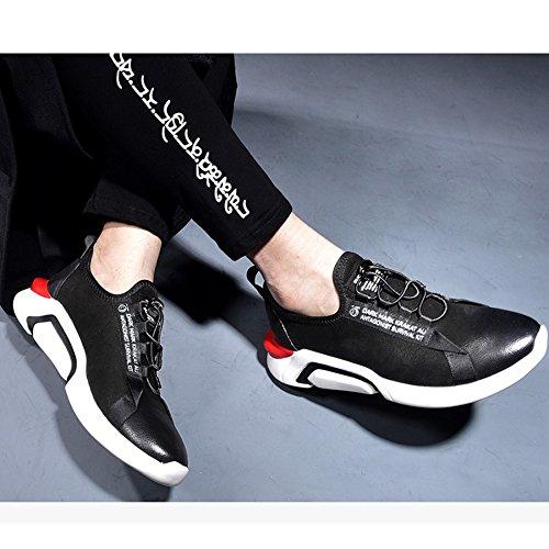 Rétro Sport Printemps Chaussures Chaussures En Mode Black Cuir Hommes De Casual Chaussures HqxOOA
