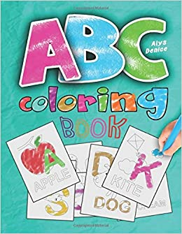 ABC coloring book: 2019 high-quality black&white Alphabet ...