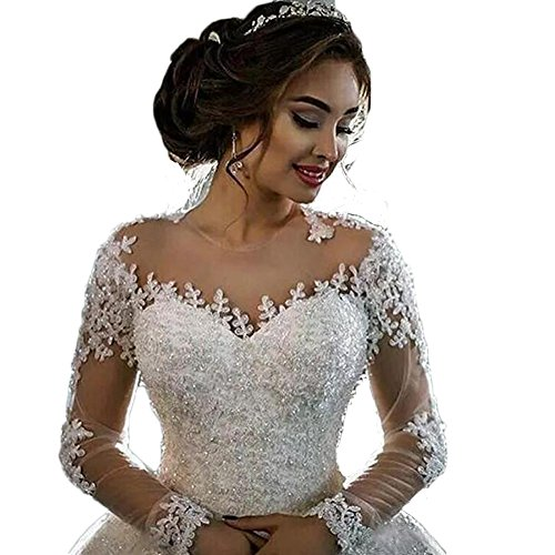 HotDresses-Hot-Dresses-Elegant-Long-Sleeves-Wedding-Dresses-Sheer-Neck-Lace-Appliques-Beaded-Bridal-Gowns-White-24w