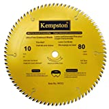 Kempston 99552 10-Inch by 80 Tooth Professional Thin Kerf Ultra Fine Crosscut Blade with 5/8-Inch Arbor