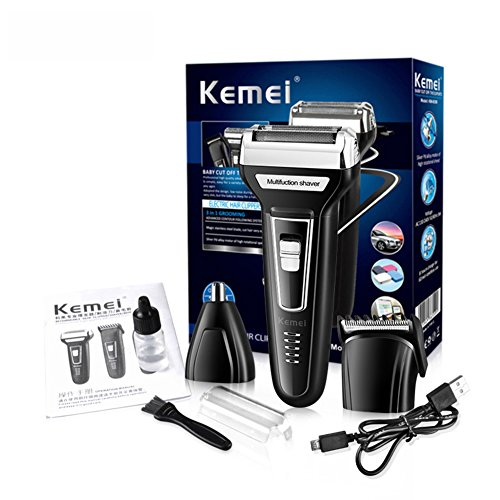 Mens Electric Shaver Haircut Nose Hair Trimmer 3 in 1 USB Rechargeable