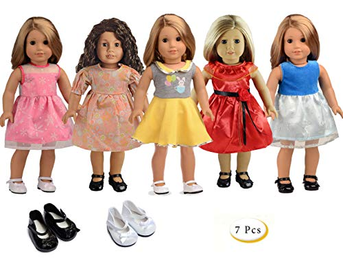 """sweet dolly 5PC Lots Doll Clothes for 18"""" Dolls American Girl Dolls"""