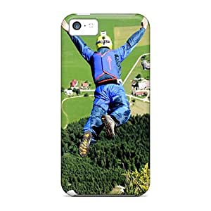 Awesome Base Jump Flip Case With Fashion Design For Iphone 5c