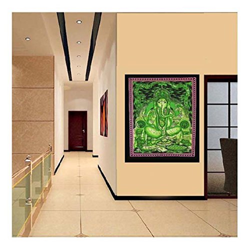Psychedelic Wall Art Denika Handicrafts Lord Ganesha Tapestry Bohemian Wall Hanging Indian Wall Tapestries Art Dorm D/écor Throw