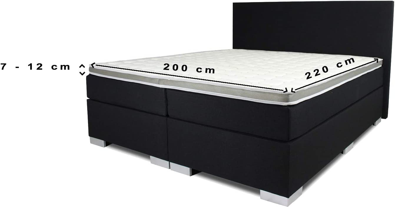 24-Bedding Baumwoll Leintuch Topper Spannbettlaken Spannbetttuch 160 x 200 cm