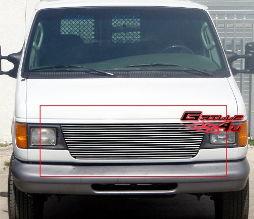 APS F85020A Polished Aluminum Billet Grille Replacement for select Ford E-150 Econoline (E-150 Econoline Club Wagon Fender)