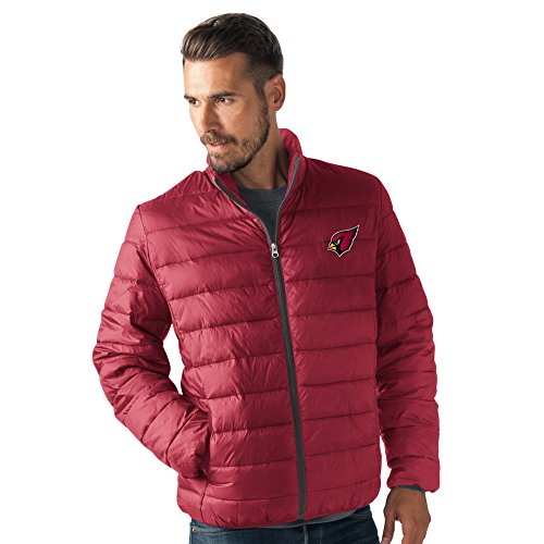 G-III Sports NFL Arizona Cardinals Men's Skybox Full Zip Packable Jacket, Cardinal, Large (Mens Jacket G-iii)