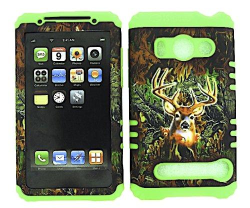 bumper-case-for-htc-evo-4g-lime-green-skin-camo-deer-hard-case