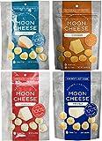 Moon Cheese Assortment, 4 Pack (Cheddar, Gouda, Pepperjack & Mozzarella)
