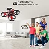 SANROCK GD65A Mini Drone for Kids with Altitude Hold,Headless Mode,Return Home Function,RTF 4 Channel 2.4Ghz 6-Gyro Remote Control Nano Quadcopter Switchable Speed for Training,Bonus Extra Battery,Red