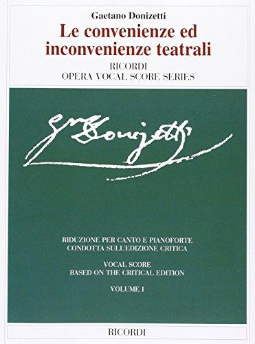 LE CONVENIENZE ED            INCONVENIENZE TEATRALI VOCAL SCORE PAPER 2 VOLUME SET by Brand: Ricordi