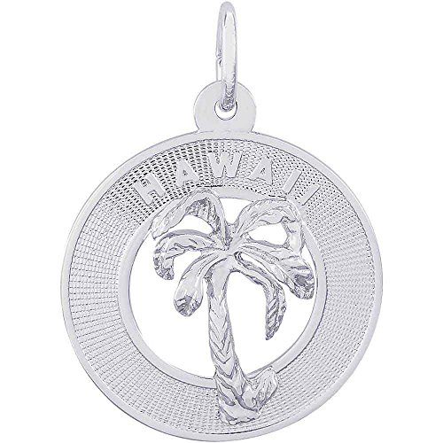 Sterling Silver Hawaii State Charm (Rembrandt Charms Hawaii Palm Tree Charm, Sterling Silver)