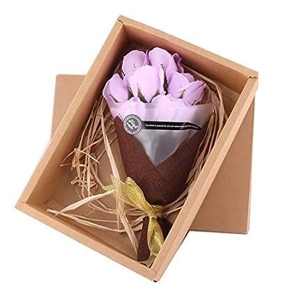 eDealMax Regalo de cumpleaños artificiales de Rose Floral de Lavado de baño de jabón ramo de
